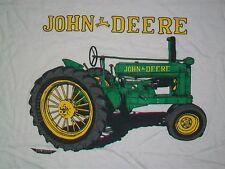vintage JOHN DEERE TRACTOR t shirt XL farm white trucker truck