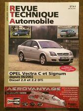 Revue Technique Automobile OPEL Vectra C et Signum diesel 2,0 et 2,2 DTi