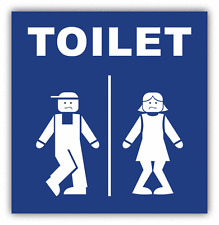 """Man And Women Toilet Sign Funny Car Bumper Sticker Decal 5"""" x 5"""""""