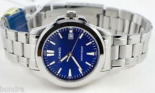 Casio MTP1215A-2A2 Men's Classic Blue Analog Steel Band Watch New with Date
