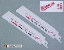 "MILWAUKEE THE TORCH 2 pcs 5785  16T - 1/8"" - 3/16"" CUTTING BI-METAL SAW BLADES"