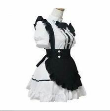 Gothic Anime Lolita French Maid Cosplay Halloween Party Fancy Dress Costumes NEW