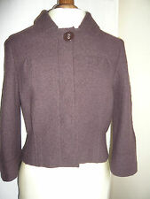 TAILORED BY NEXT PURE NEW WOOL BROWN JACKET SZ 14, QUIRKY STYLING
