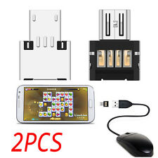 2pcs Micro USB Male to USB Female OTG Adapter Converter For Android PAD Phone