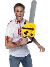 Unisex Yellow Chainsaw With Sound Texas Massacre Halloween Fancy Dress Prop Fun