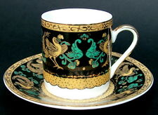 For Chinacraft Porcelain Exotic Bird Pattern Coffee Cups & Saucers Look in VGC