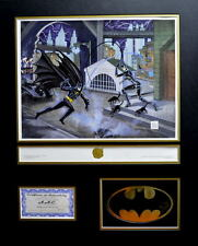 BATMAN RETURNS - A DANGEROUS GAME CAT & BAT HAND SIGNED BOB KANE LOGO PRO MATTED
