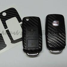 1S_Schlüssel-Dekor Aufkleber SEAT Ibiza Leon Cupra Alhambra schwarz carbon