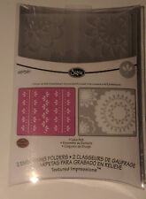 Sizzix textured impressions embossing Lace set 2 pk
