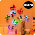 10 X Colorful Changing Butterfly LED Night Light Lamp Party Kids Room Wall Decor