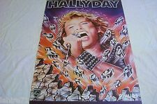 johnny hallyday   ! affiche cinema concert  70 rare