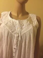 Eileen west nightgown  Large 100% Cotton lawn  Swiss Dot white  Short