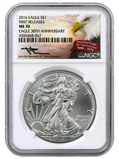 2016 1 Oz American Silver Eagle NGC MS70 FR (Mercanti Signed Label) SKU38846
