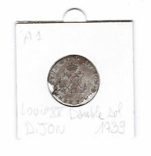Double Sol 1739 Dijon Louis XV piece de monnaie ancienne France Louis 15