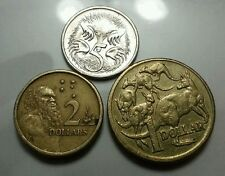 Willie: Australia 5cent,1 dollar and 2 dollar
