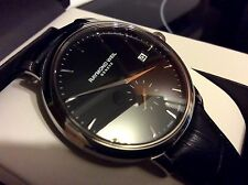 MEN NEW RAYMOND WEIL VERY THIN SUB SECOND DIAL LEATHER 5484 SWISS FREE SHIPMENT
