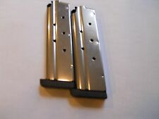"""1911 .40 cal. mag, magazine,mags, 1/4"""" removable base  2 mags,9 shot, stainless"""
