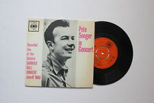 Pete Seeger / In Concert / Carnegie Hall 1963 CBS Records EP / EX+