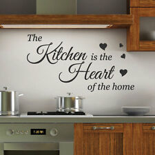Kitchen is the Heart Wall Quotes Stickers Wall Decals Wall Arts decoration 34