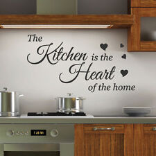 Kitchen is the Heart Wall Quotes Stickers Wall Decals Wall Arts decoration 13