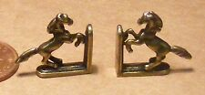 1:12 Scale Antique Metal Horse Bookends Dolls House Miniature Books Study Shelf