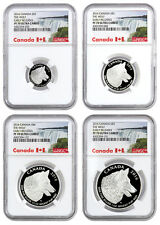 2016 Canada Proof Silver Wolf 4-Coin Fractional Set NGC PF70 ER SKU38580