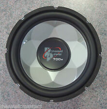 "Single 12"" inch 4 ohm Chrome Car Audio Poly Woofer Subwoofer Bass Speaker Driver"