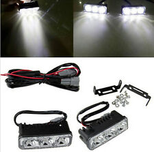 1pair Super Bright 3 LED 12V Daylight Running Light Daytime Driving Light DRL