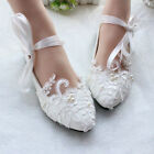 Flats Mary Janes String Puttee Princess Lace Flower Beach Wedding Shoes