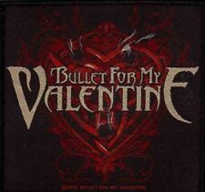 BULLET FOR MY VALENTINE Heart Woven Sew On Patch Rock Official Merchandise