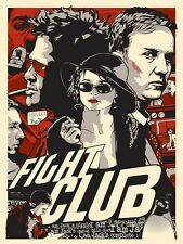 "36 Fight Club - 1999 American Film Brad Pitt Edward Norton 14""x19"" Poster"
