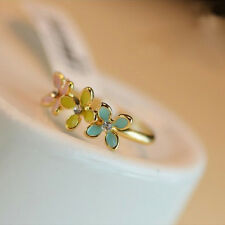 Cute Popular Women's Metal Gold-plated Small Adjustable Flower Daisy Ring
