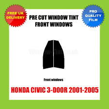 HONDA CIVIC 3-DOOR 2001-2005 FRONT PRE CUT WINDOW TINT KIT