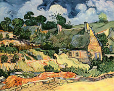 Oil painting Vincent Van Gogh - Abstract landscape camp houses