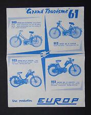 Publicité moto mobylette SAN 2V LN  2V / Europ Lavalette moteurs 909 912 923 933