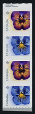Canada 2810-1i end coil strip MNH Flowers, Pansies