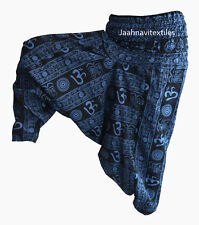 INDIAN BAGGY GYPSY HAREM PANTS YOGA MEN WOMEN STYLISH OM PRINT TROUSERS hdd