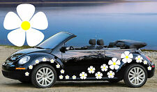 32 WHITE PANSY FLOWER CAR DECALS,STICKERS,CAR GRAPHICS,DAISY STICKERS