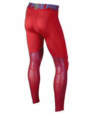 """Nike Dri-Fit """" PRO HYPERCOOL MAX Compression Tights NEW 744283-657 Red MENS MED"""