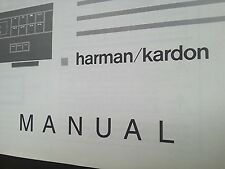 Harman Kardon HD 7225/7325/7425 Original Bedienungsanleitung, Owner`s Manual.