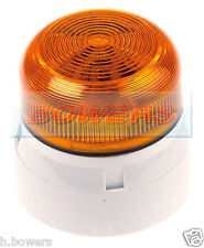 KLAXON QBS-0054 FLASHGUARD 12V/24V 3W TWO 2 BOLT/PIN XENON STROBE AMBER BEACON