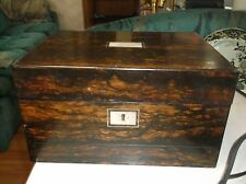 Early French 18th Century Jewelry Casket box Inlaid secret compartment