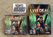 Evil Dead ' Regeneration ' THQ army of darkness boomstick PC Big Small Box Game