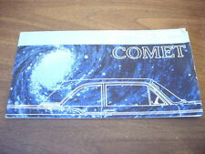 Vintage 1960s Comet Automobile Car Brochure Catalog booklet advertisement auto