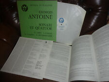 Antonine Sonate Et Quatuor, Jarry Collot, Wallonie Stereo 1975 France LP, 12""