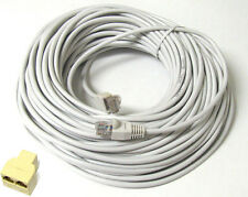 100 FT CAT5 CAT5E RJ45 LAN Network Ethernet Patch Cable GREY +Coupler Connector