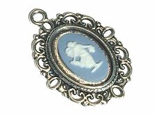 Authentic, Wedgwood Jasperware Cameo in Silver Plated Pendant
