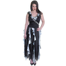 ADULT SCARY HIGH #SCHOOL ZOMBIE PROM QUEEN HALLOWEEN COSTUME FANCY DRESS