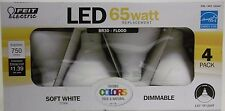 FEIT ELECTRIC BR30 - FLOOD LED 65 WATT REPLACEMENT BULBS 4-PACK DIMMABLE NEW B28