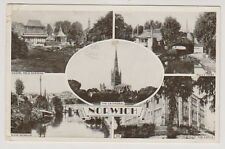 Norfolk postcard - Norwich (Multiview showing 5 scenes) - P/U 1953